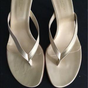 Brand New Colin Stuart Cream Sandals Size 10
